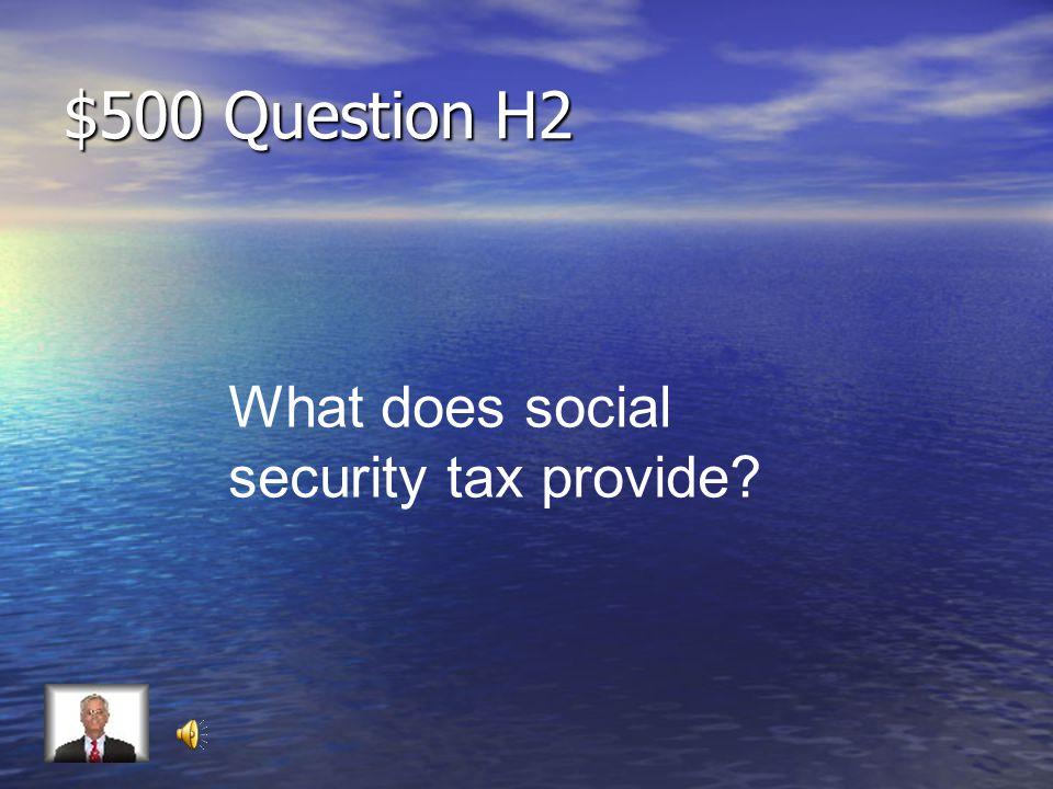 $400 Answer H2 1.45%
