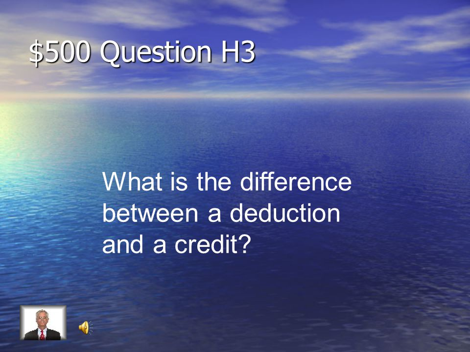 $400 Answer H3 Can be = Don't get the credit Can't be = $400 credit