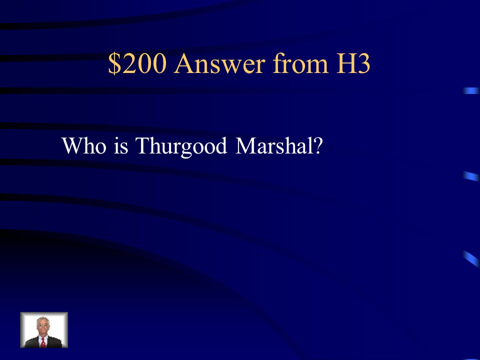 $200 Question from H3 Leading NAACP lawyer.