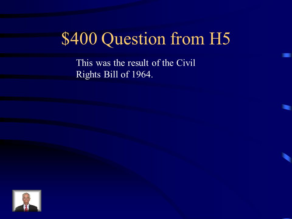 $300 Answer from H5 Who is Fannie Lou Hamer