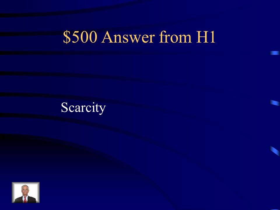 $500 Question from H1 The difference between wants and needs and available resources
