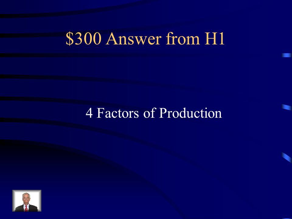 $300 Question from H1 Land, Labor, Capital, and Entrepreneurship