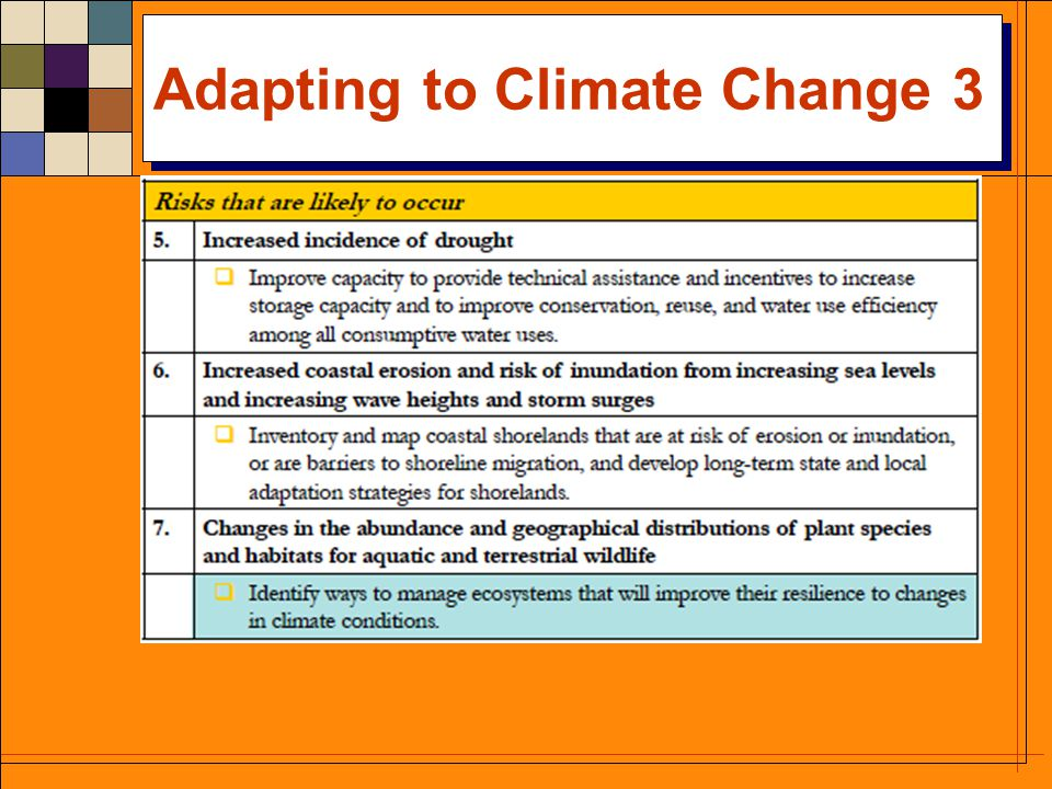 Adapting to Climate Change 2