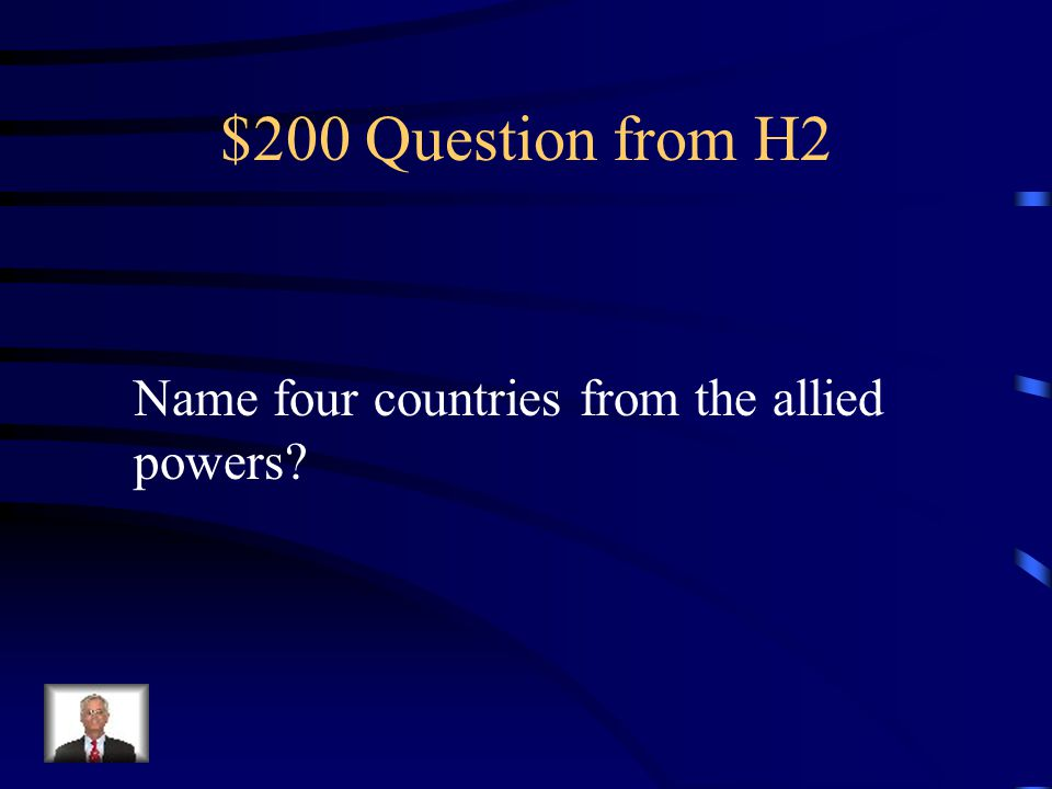 $100 Answer from H2 They believed in democrasy in their alliance.