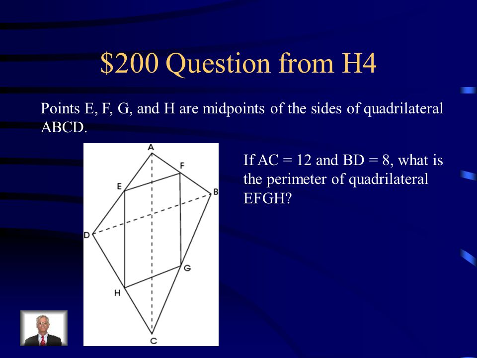 $100 Answer from H4 B)