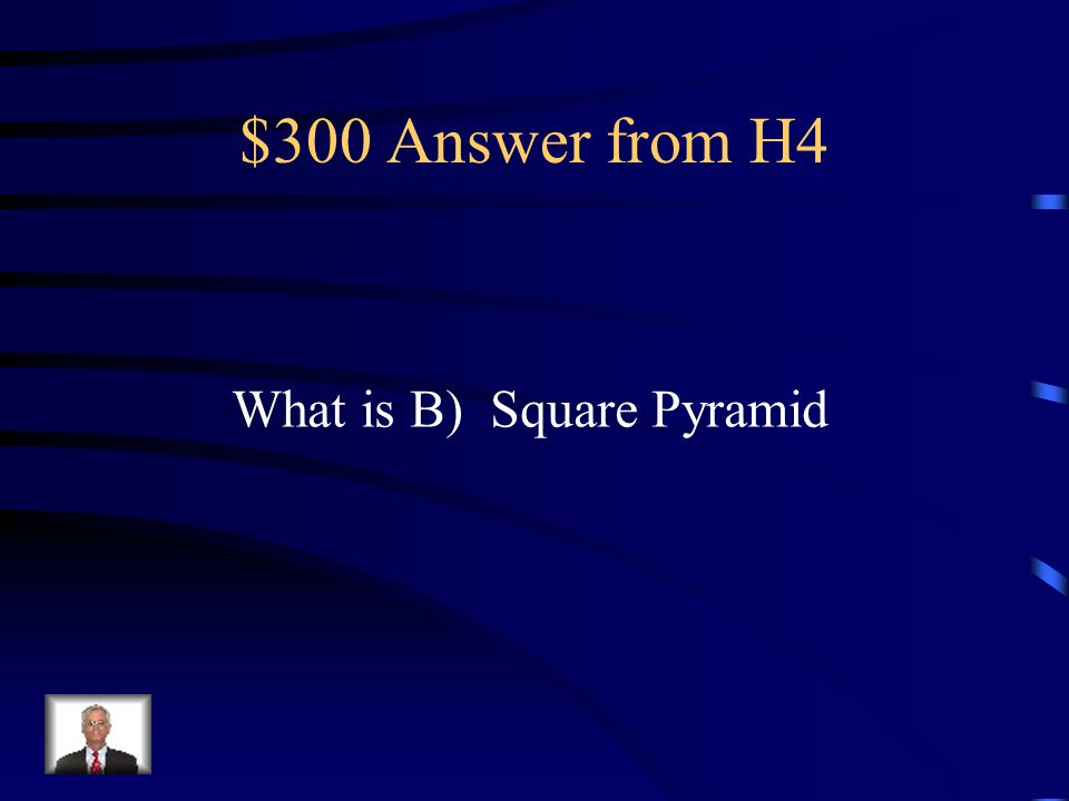 $300 Question from H4 The figure shows a three-dimensional object when viewed from above.