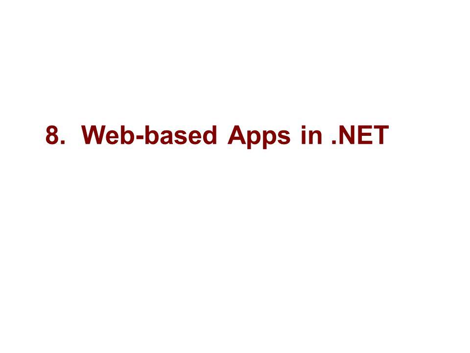 8. Web-based Apps in.NET