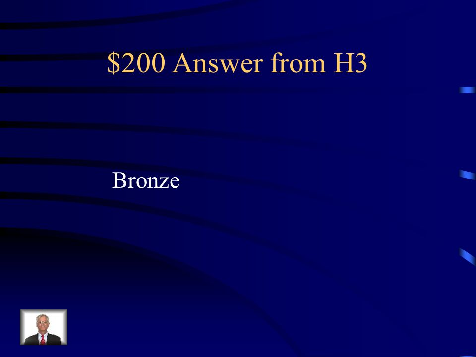 $200 Question from H3 Shang Weapons and other tools were made of what?