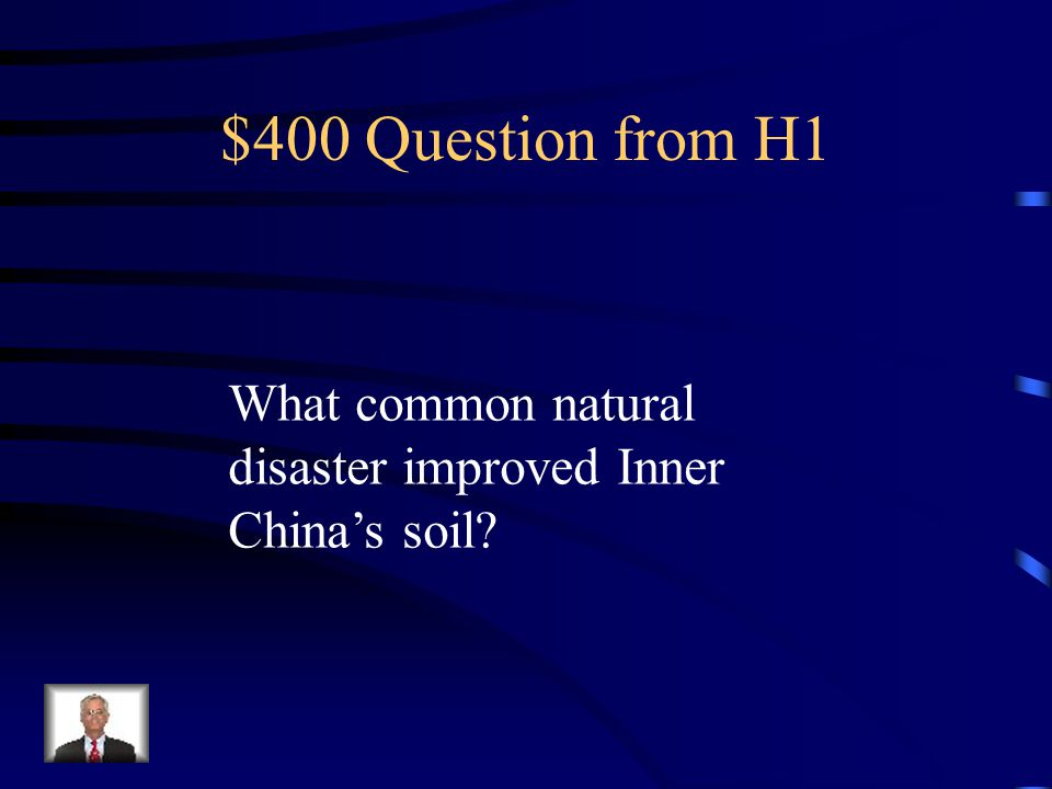 $400 Question from H2 What natural event makes the Taklimakan Desert Dangerous?