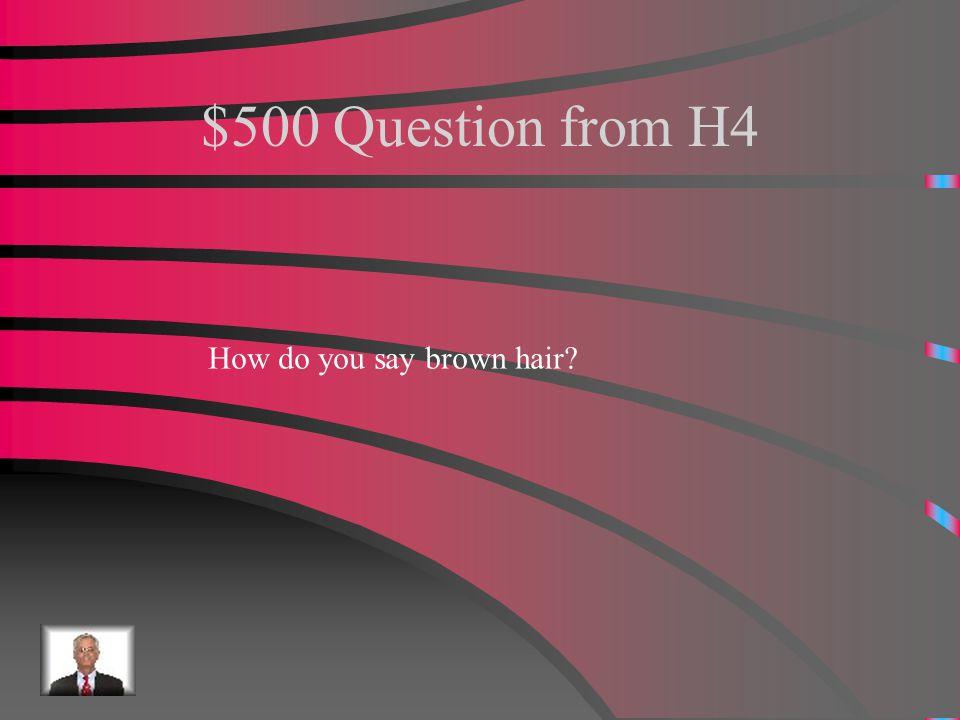 $400 Answer from H4 Organizado.