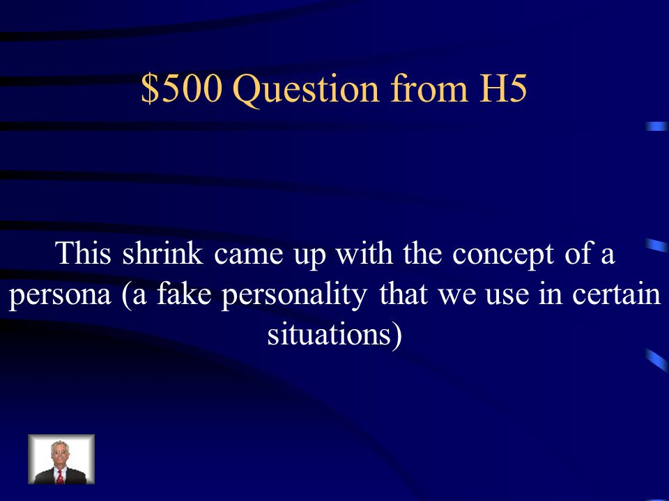 $400 Answer from H5 Who is Horney