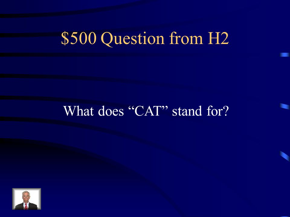 $400 Answer from H2 Clear Liquid