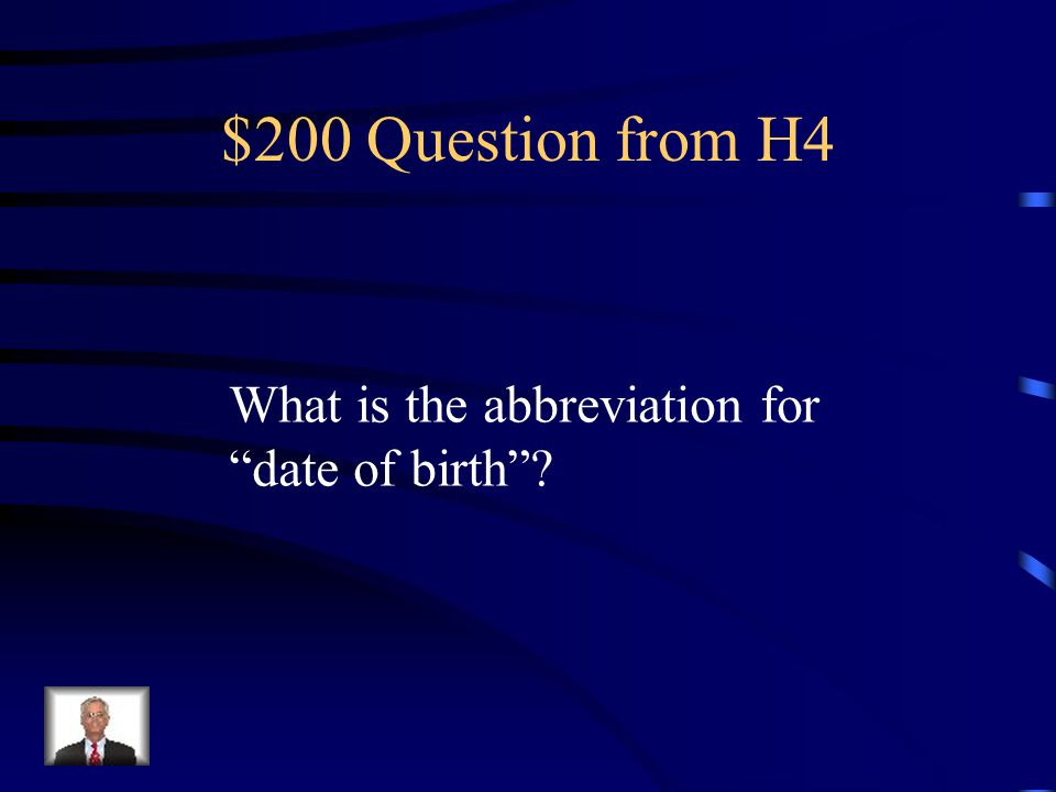 $100 Answer from H4 Dx
