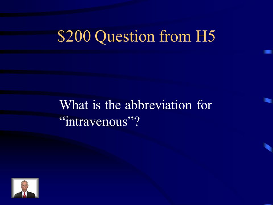 $100 Answer from H5 ICU