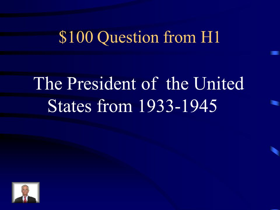 $100 Question from H2 What fictional character is portrayed here: