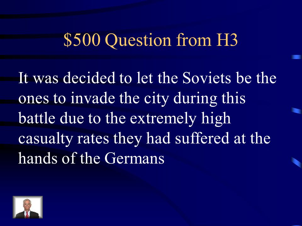 $400 Answer from H3 Iwo Jima