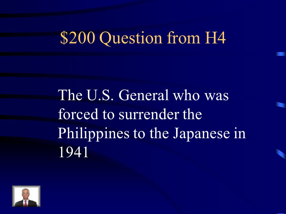 $100 Answer from H4 Island Hopping