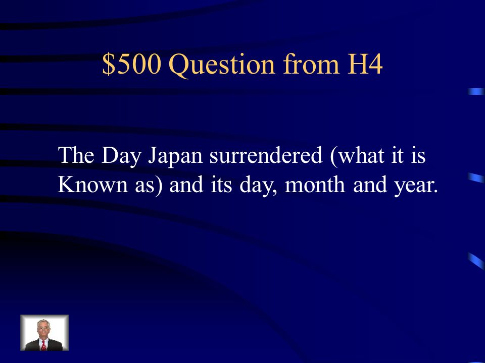 $400 Answer from H4 Bataan Death March
