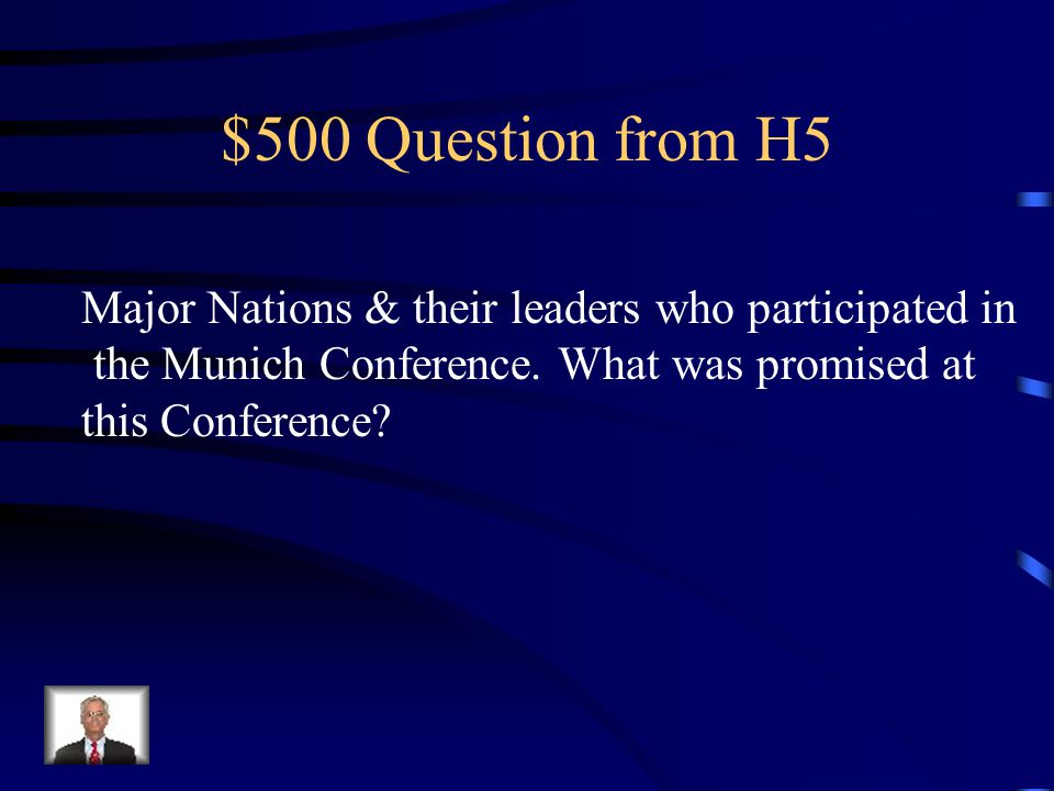 $400 Answer from H5 Maginot Line
