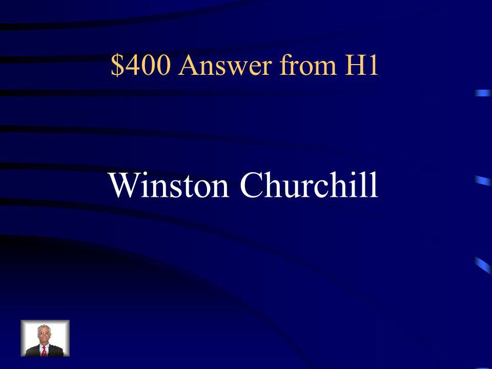 $400 Answer from H3 Iwo Jima