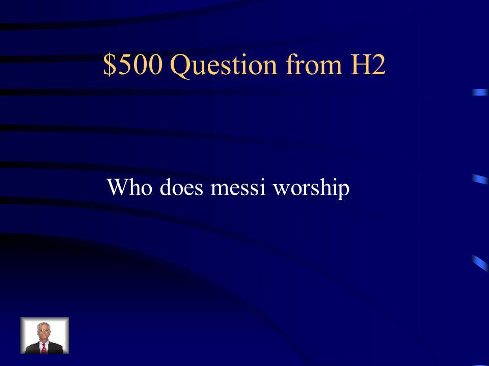$400 Answer from H2 Cristiano ranoldo