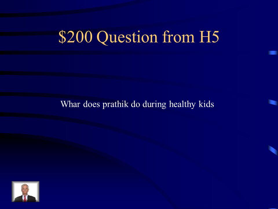 $100 Answer from H5 telagu