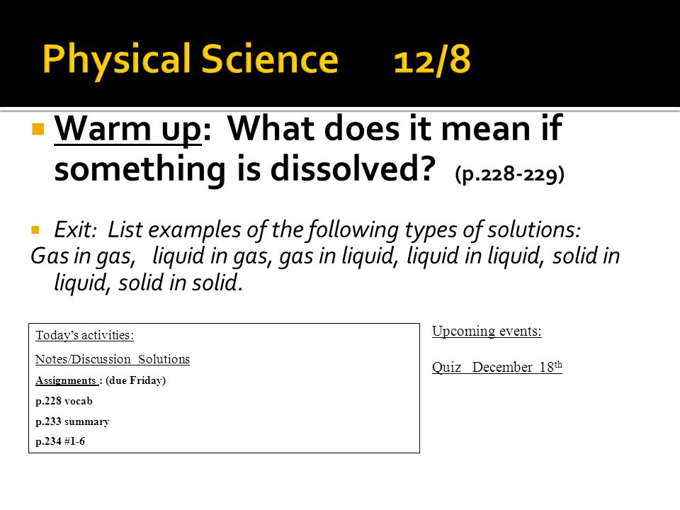  Warm up: Explain some uses/examples of of non-newtonian fluid.