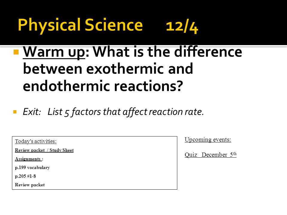  Warm up: Why is it important for everyone in your group to record all activities and observations of the experiment.