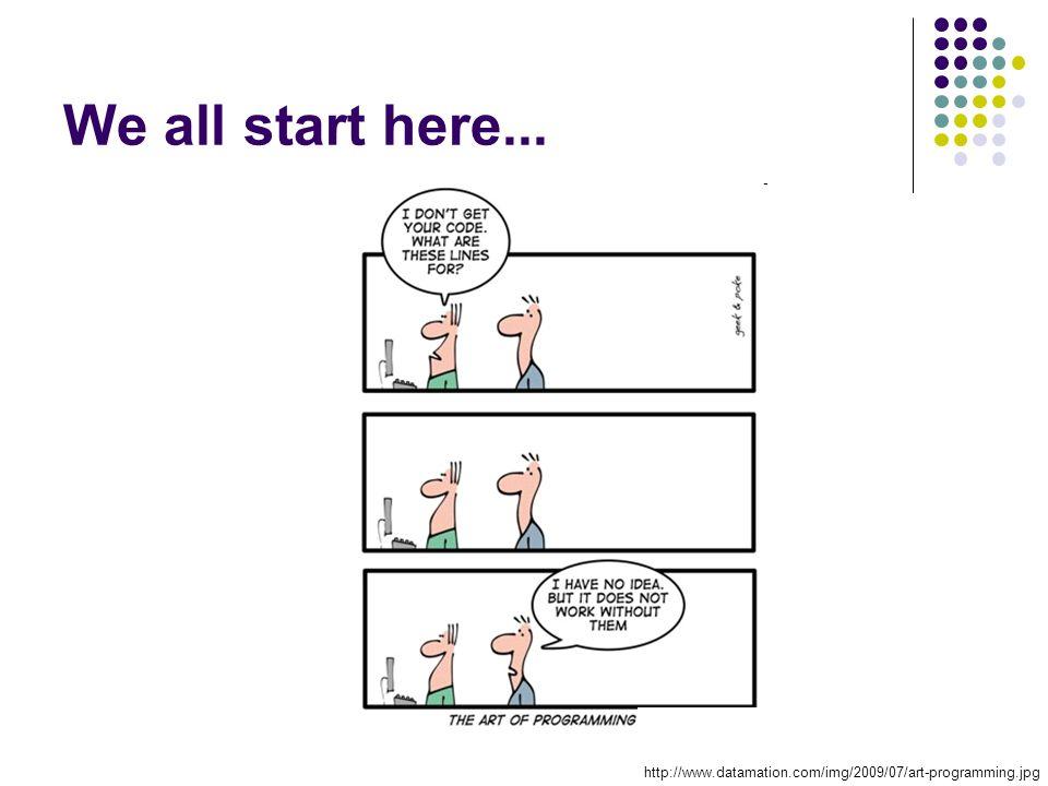 We all start here... http://www.datamation.com/img/2009/07/art-programming.jpg