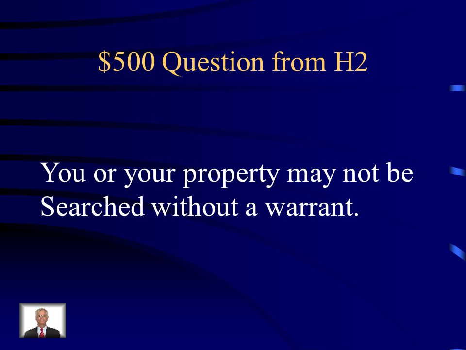 $400 Answer from H2 AMENDMENT 2