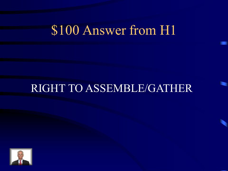$100 Question from H1 You can have a peaceful meeting with a Group of people.