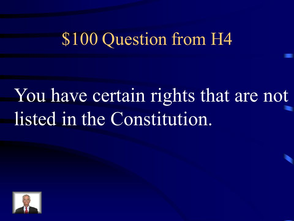 $500 Answer from H3 AMENDMENT 8
