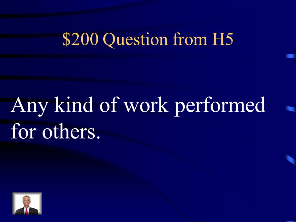 $100 Answer from H5 COMPETITORS