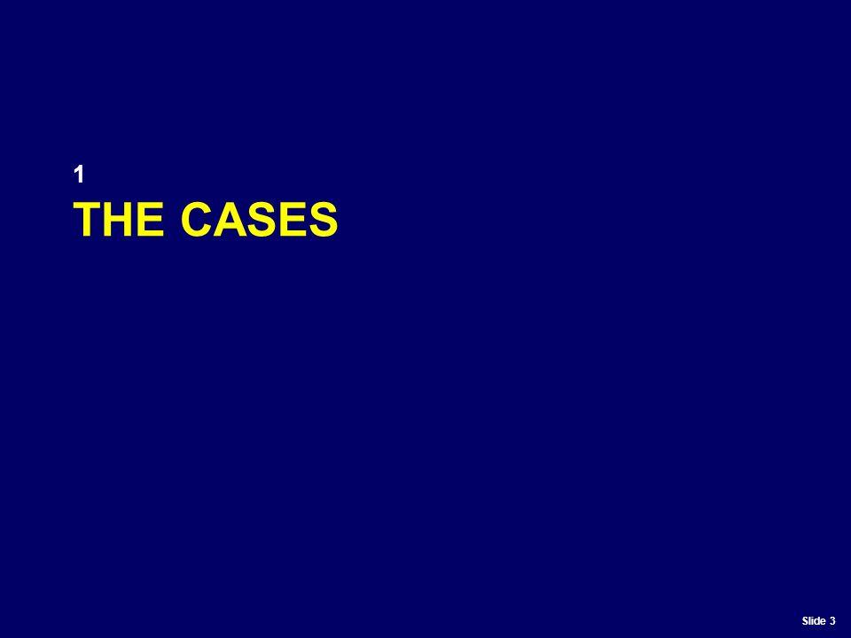 Slide 3 THE CASES 1