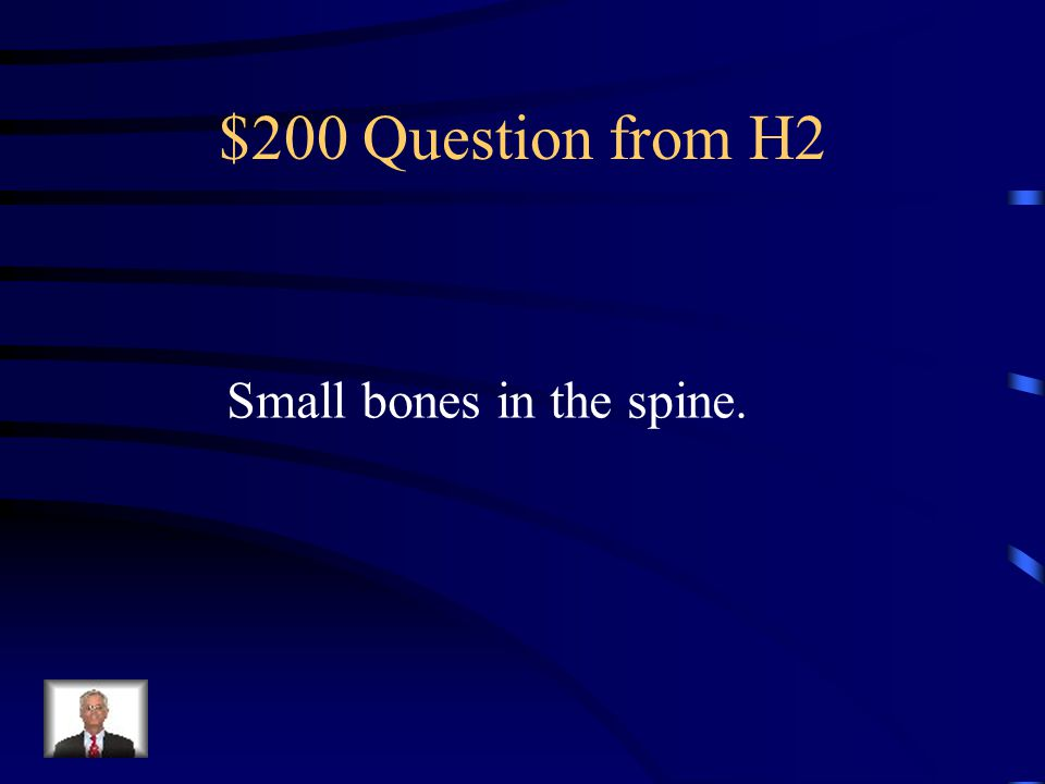 $100 Answer from H2 What are the axial and appendicular