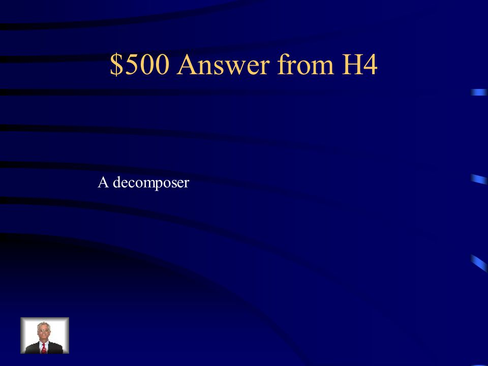 $500 Question from H4 An organism that gets energy from breaking down dead or decaying organisms