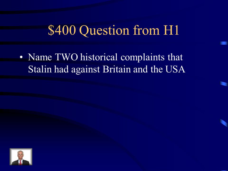 $400 Question from H3 Your Text Here