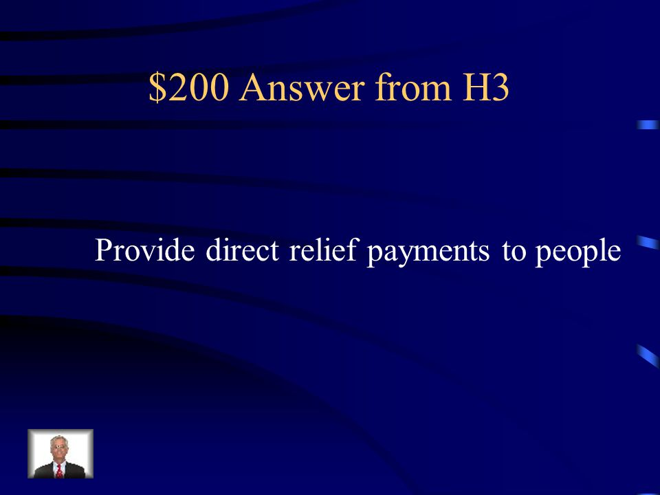 $200 Question from H3 Hoover refused to do what to help combat the depression?