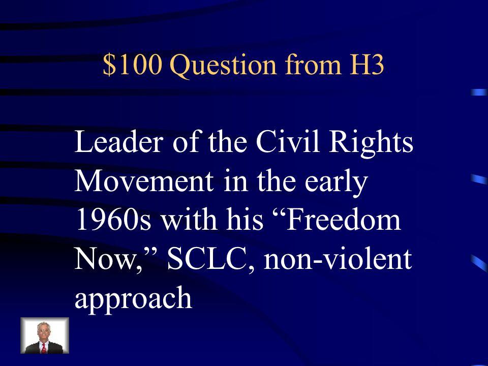 $500 Answer from H2 Bettie Friedan