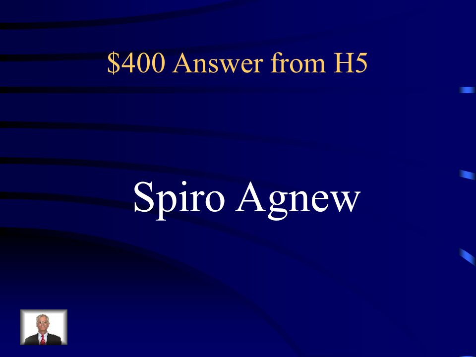 $400 Question from H5 Vice-President of Richard M.
