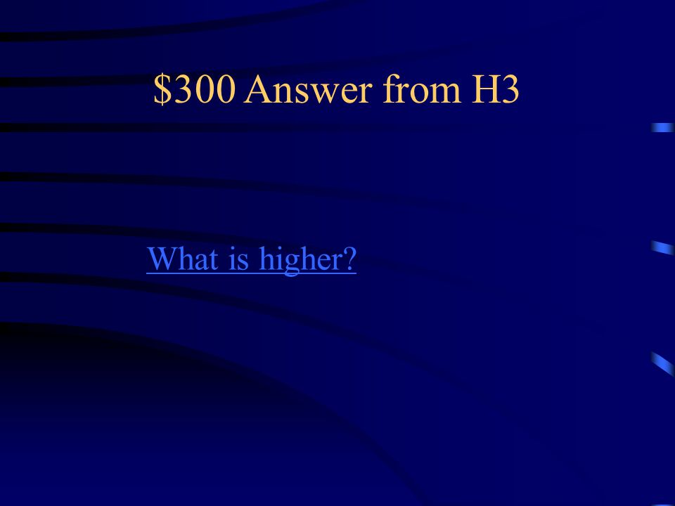 $300 Question from H3 Tightening the strings on a violin Would _________ the pitch.