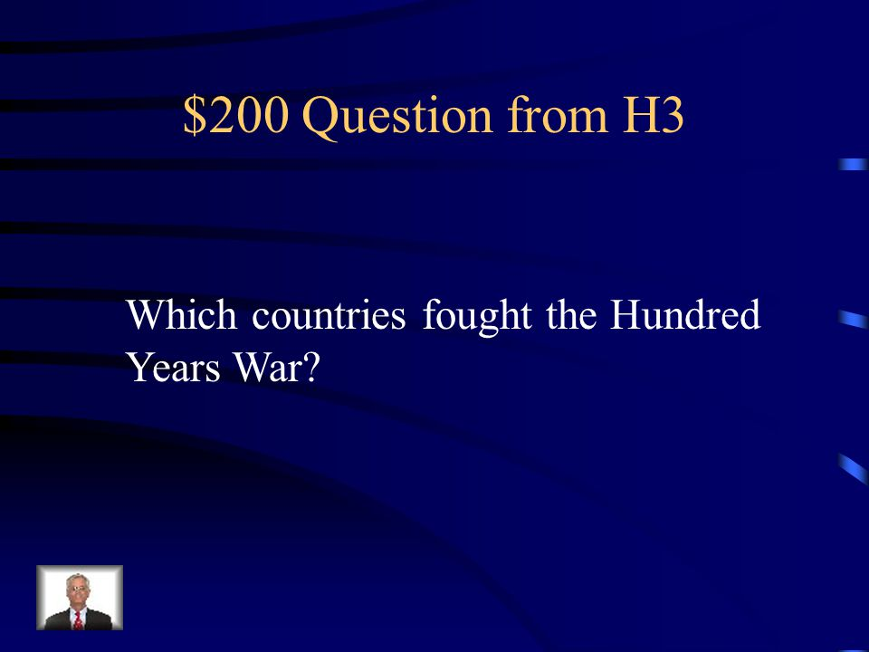$100 Answer from H3 Elephants