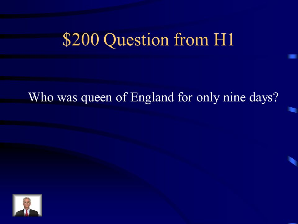 $100 Answer from H1 George Washington