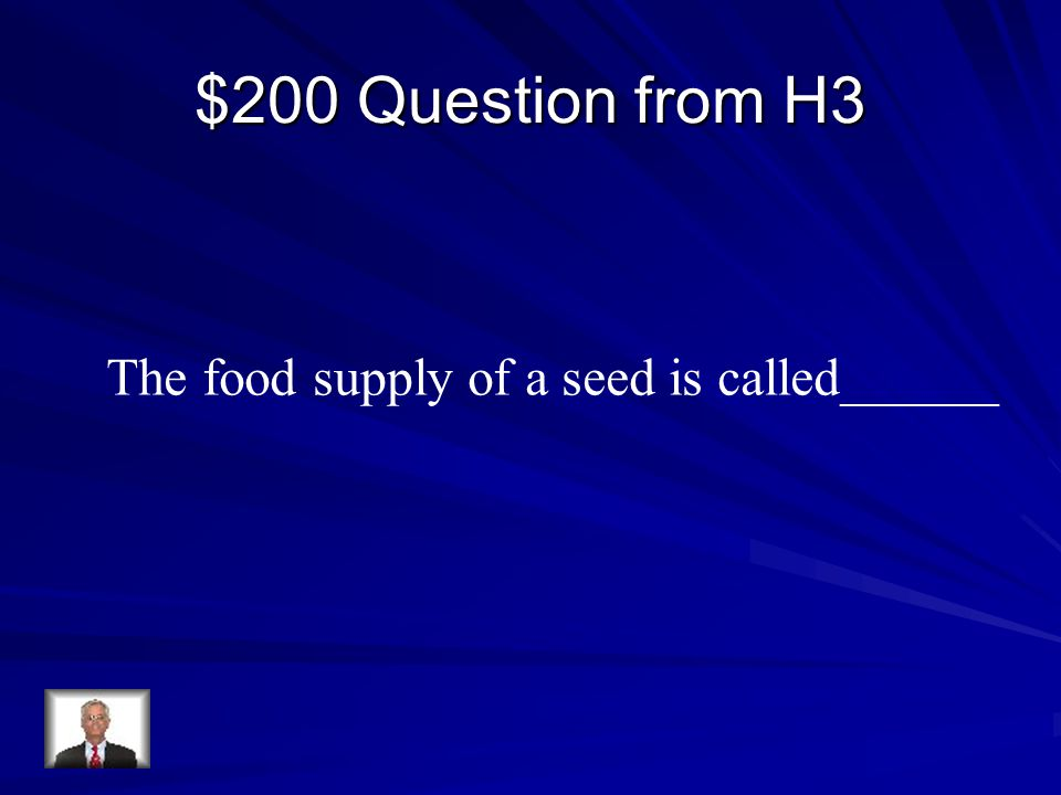 $200 Question from H3 The food supply of a seed is called______