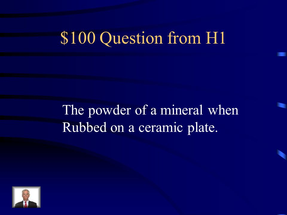 $100 Question from H4 The grain size of igneous rocks depend on how fast they cool.