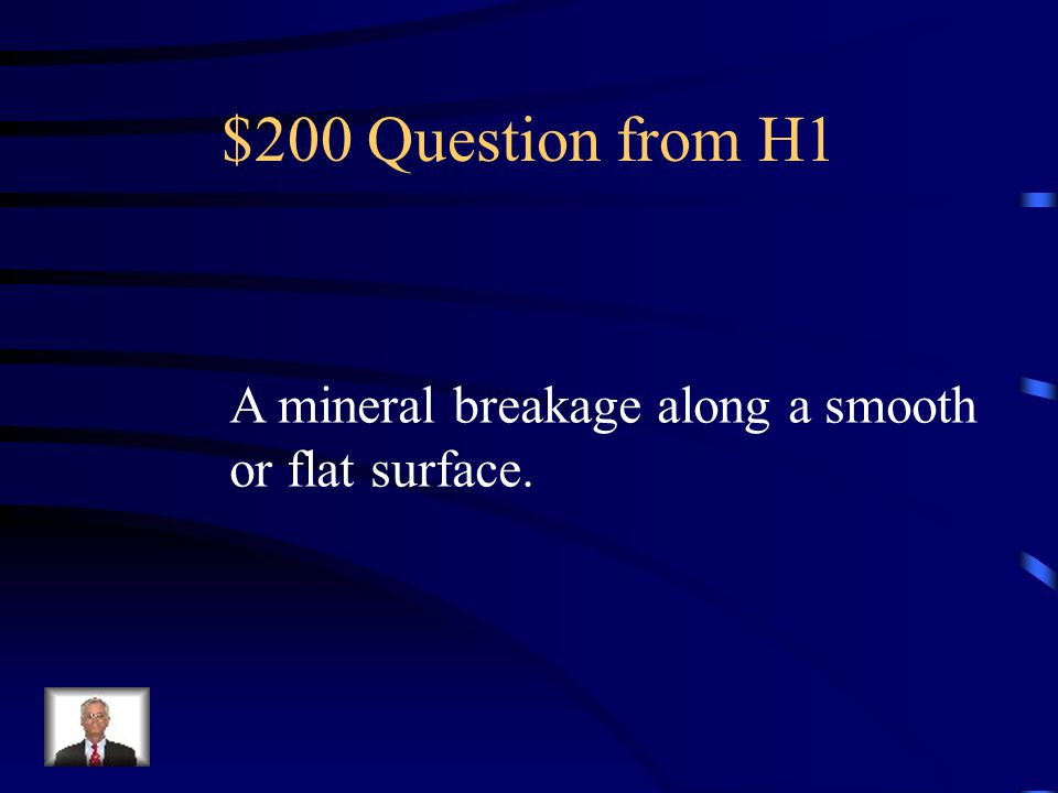 $200 Question from H2 This type of rock forms from broken down pieces of sediment compacting and cementing together.