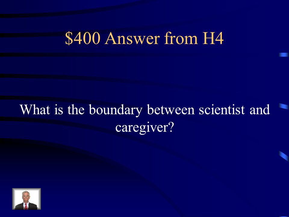 $400 Question from H4 This represented the huge ethical dilemma in the treatment of Genie.