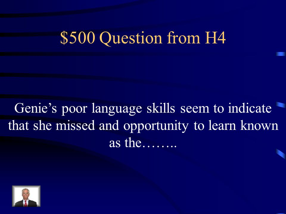 $400 Answer from H4 What is the boundary between scientist and caregiver
