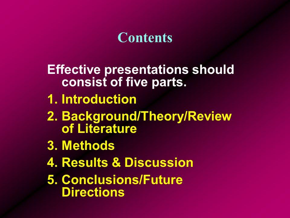 Effective Presentations D. Gordon E.
