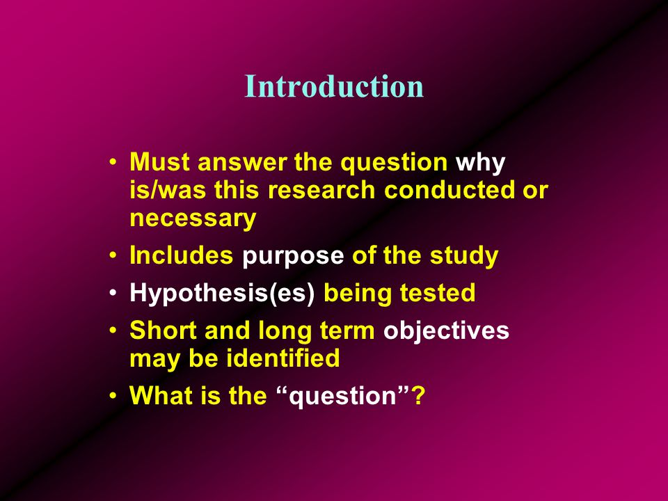 Contents Effective presentations should consist of five parts. 1.Introduction 2.Background/Theory/Review of Literature 3.Methods 4.Results & Discussio